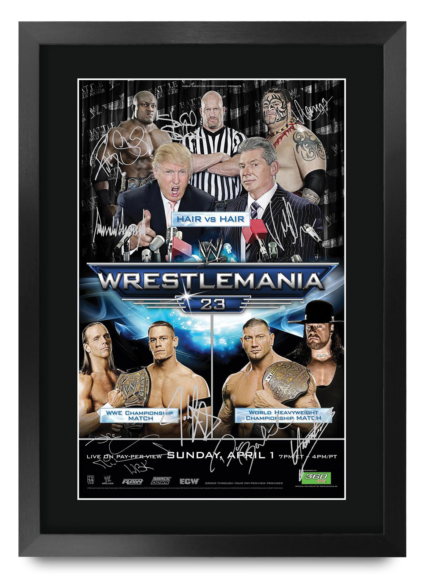 Wrestling Room Design: WrestleMania 23 Programme WWF WWE Wrestling Fan Gifts