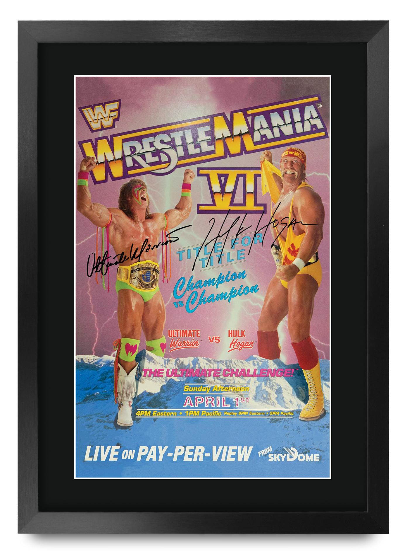 WWF Hulk Hogan Poster A3