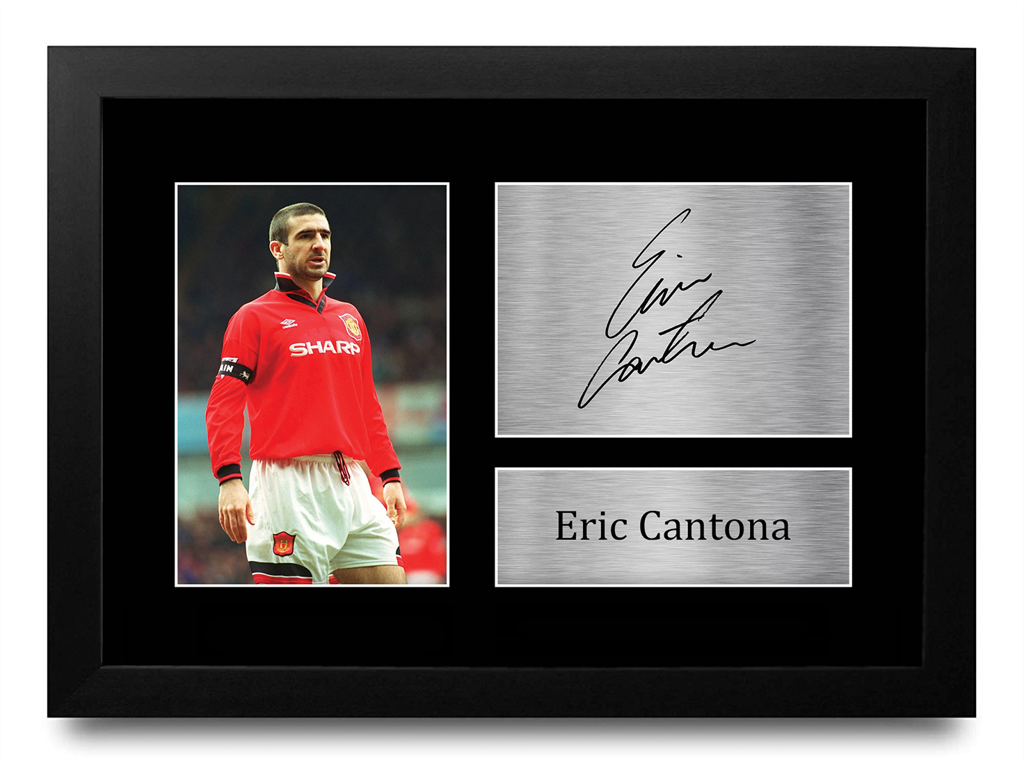 Eric Cantona Signed Pre Printed Autograph Photo Gift For a Man Utd Fan