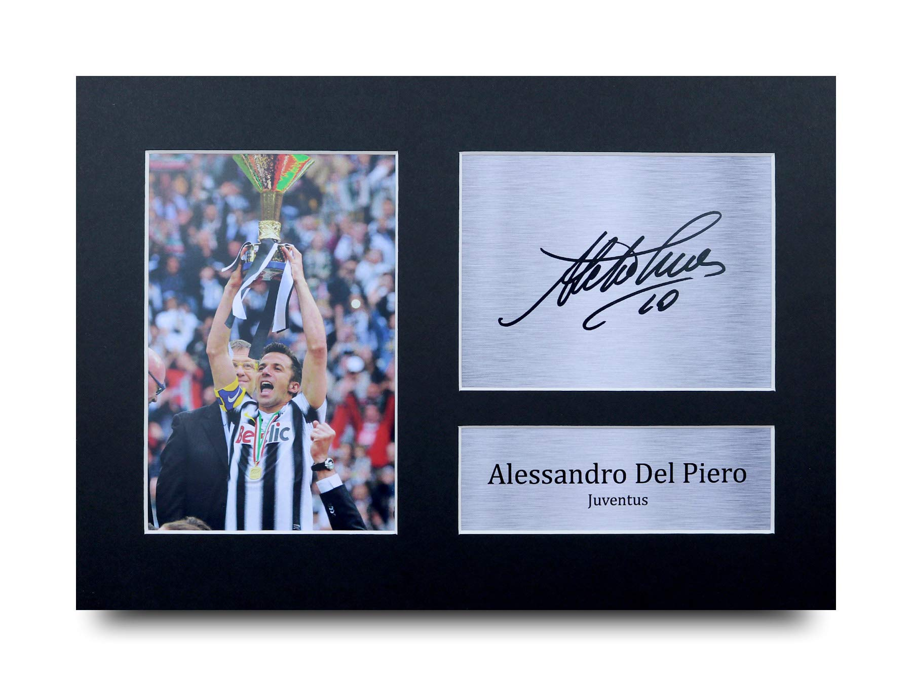 Alessandro Del Piero Signed Pre Printed Autograph Photo Gift For a Juventus Fan